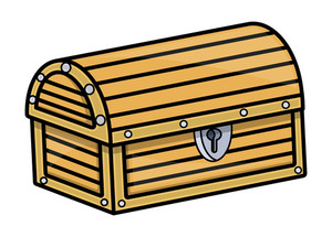 Treasure Trunk - Vector Cartoon Illustration
