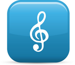 Treble Clef Elements Glossy Icon