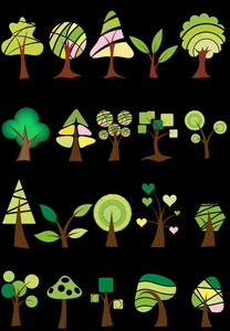 Trees Vector Set