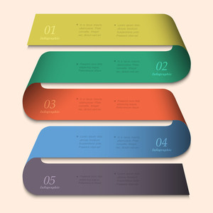 Trendy Banner-arrow Design For Infographics