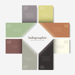 Trendy Design Template For Infographics, Website Templates