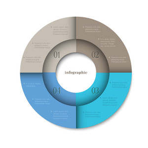 Trendy Round Design Template For Infographics
