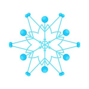 Trendy Snowflake Element