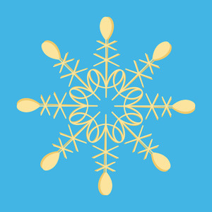 Trendy Snowflake Element