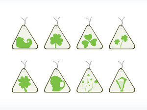 Triangle Shape Patrick's Day Tags