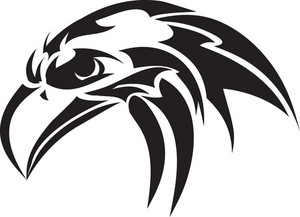 Tribal Vector Element With Eagle Head
