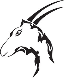Tribal Vector Element With Goat Head