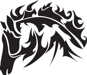 Tribal Vector Element With Horse Head