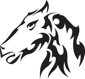 Tribal Vector Element With Horse