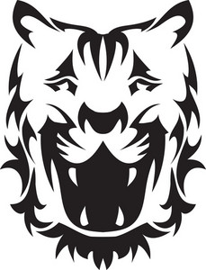 Tribal Vector Element With Tiger Head