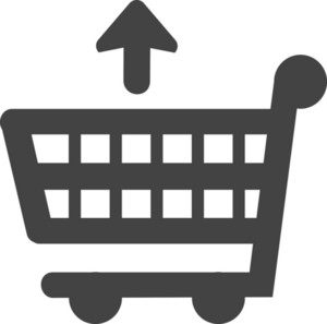 Trolley Up Glyph Icon