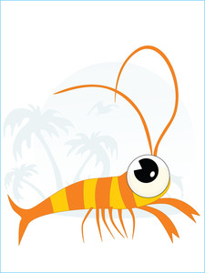 Tropical Background With Fish