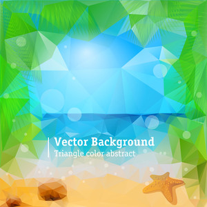 Tropical Beach. Vector Background.