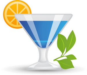 Tropical Blue Cocktail Icon