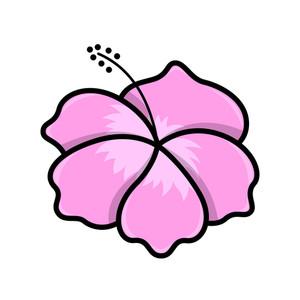 Tropical Island Flower - Vector Illustration