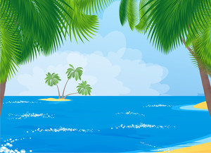 Tropical Sea. Vector.