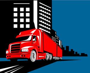 Truck Container Van Building