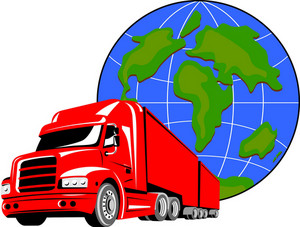 Truck Container Van With Globe