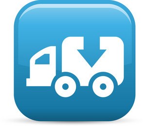 Truck Download Elements Glossy Icon