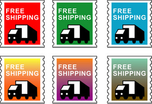 Truck Free Shipping Stamp