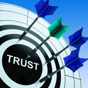 Trust On Dartboard Shows Reliability