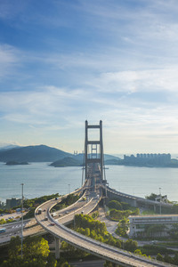 Tsing ma bridge Hong Kong landscape.