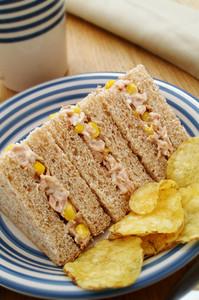 Tuna And Sweetcorn Sandwich Snack