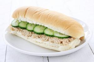 Tuna Cucumber Sub Sandwich