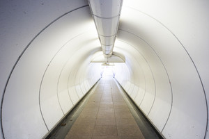 Tunnel the way go out to success business