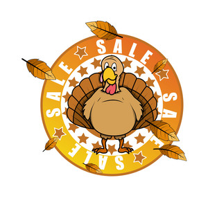 Turkey Bird Sale Banner Design Vector