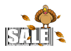 Turkey Bird Sale Barecode Vector