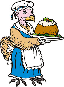 Turkey  Female With Pudding