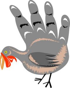 Turkey Hand Retro