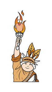 Turkey On Statue Of Liberty Torch
