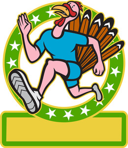 Turkey Run Runner Side Cartoon