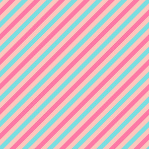 Turquoise And Pink Diagonal Stripes Pattern