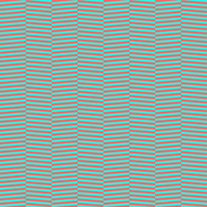 Turquoise And Red Chevron Pattern