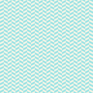 Turquoise And White Chevron Pattern