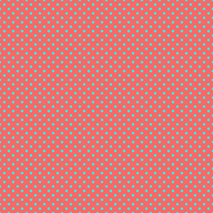 Turquoise Polka Dots Pattern On A Red Background