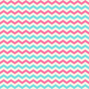 Turquoise, White, And Pink Chevron Pattern