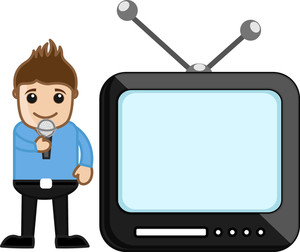 Tv Anchor - Profession Concept - Business Cartoons Vectors