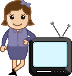 Tv Anchor - Vector Illustration