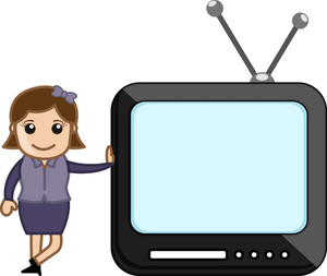 Tv Presentation - Vector Illustration