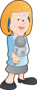 Tv Reporter - Cartoon Character