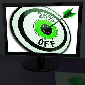 Twenty-five Percent Off On Monitor Shows Promotions