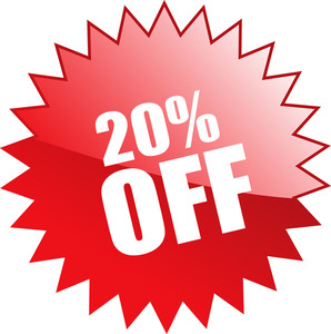 Twenty Percent Discount Coupon