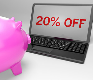 Twenty Percent Off On Notebook Shows Sales