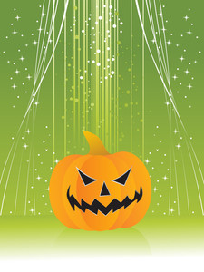 Twinkle Star Background With Isolated Pumpkin