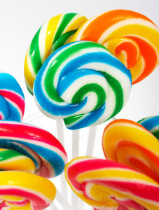 Twisted Multicolored Candy On Sticks