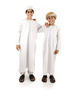 Two arabic friends isolated